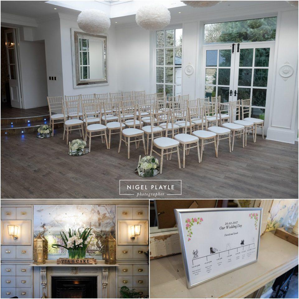 venue set up for wedding