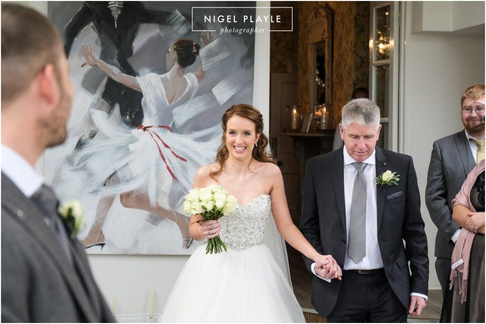 bride walking down isle