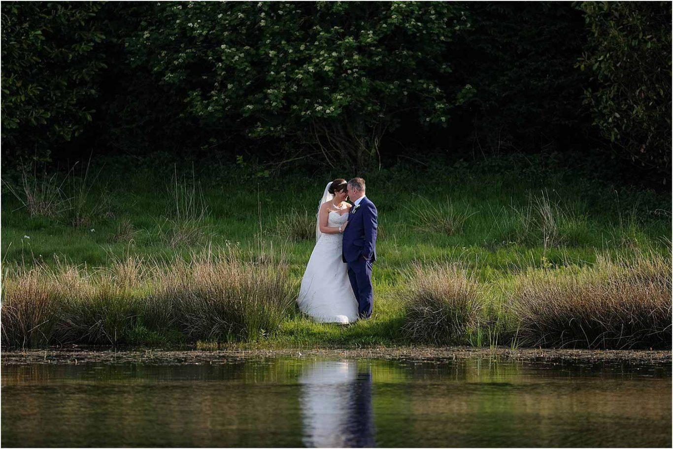 Happy Couple next to lake